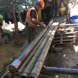 Orientating drill core an additional step that aids-structural interpretation of the deposit